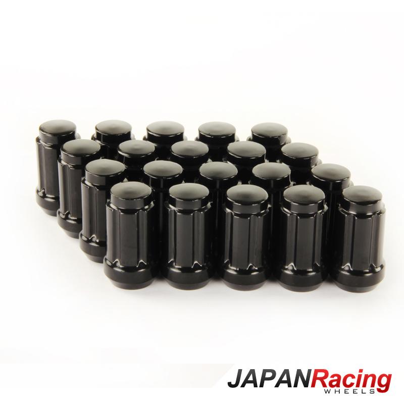 JR Kované ocelové matice kol M12x1,5 krátké BLACK