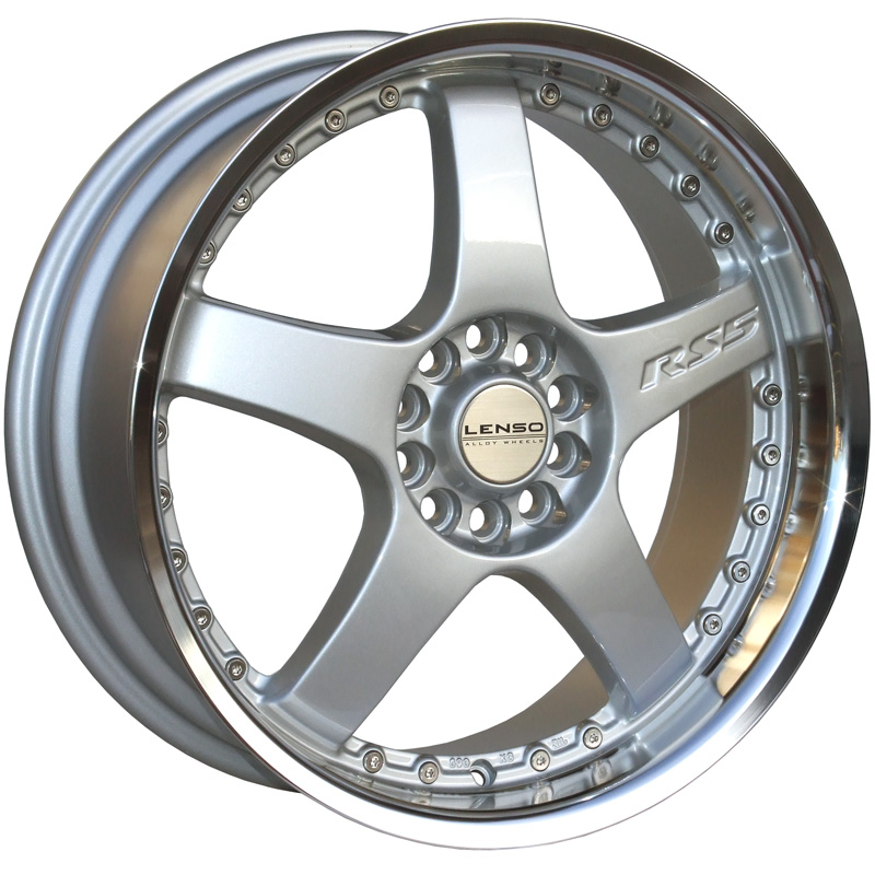 LENSO RS5 7x16 4x108 ET38 SILVER / MIRROR LIP