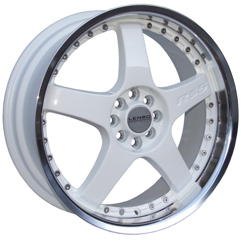 LENSO RS5 6,5x15 4x108 ET38 WHITE / MIRROR LIP