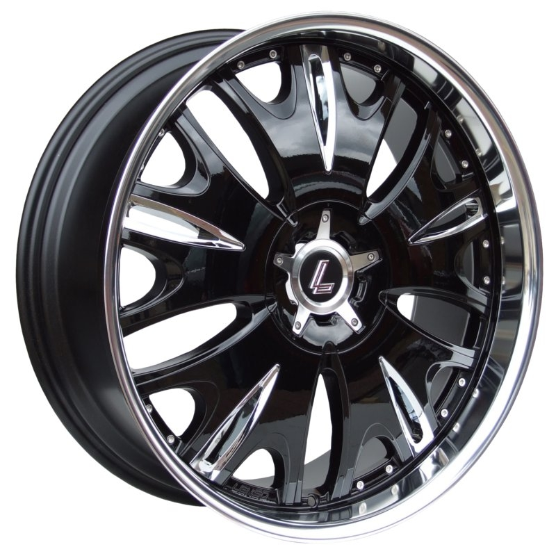 LENSO GRANDE 9 8,5x20 6x139,7 ET20 GLOSS BLACK/ MIRROR LIP