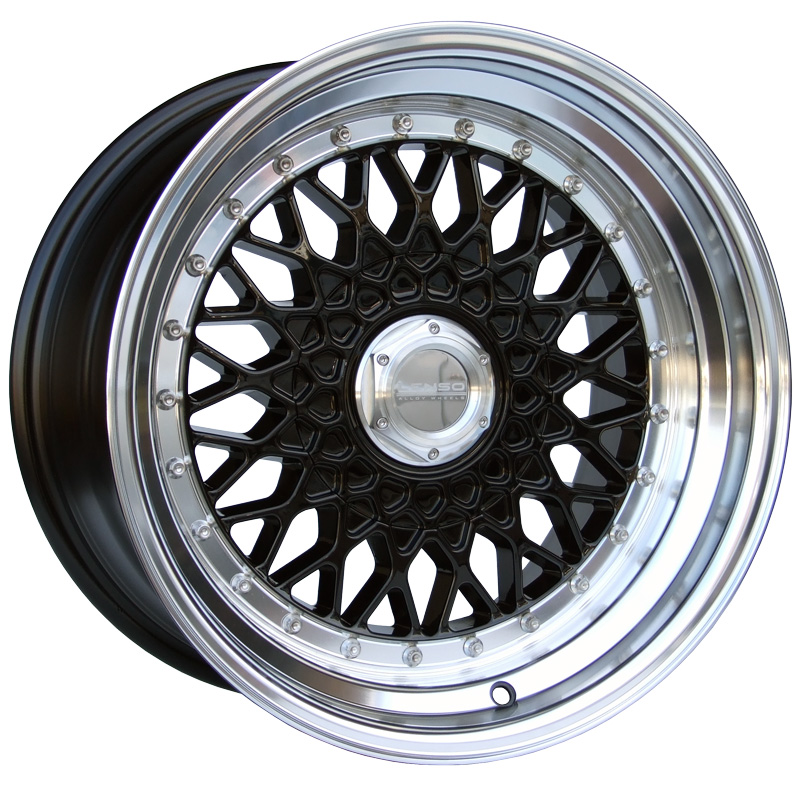 LENSO BSX 8,5x17 5x100 ET15 GLOSS BLACK / MIRROR LIP