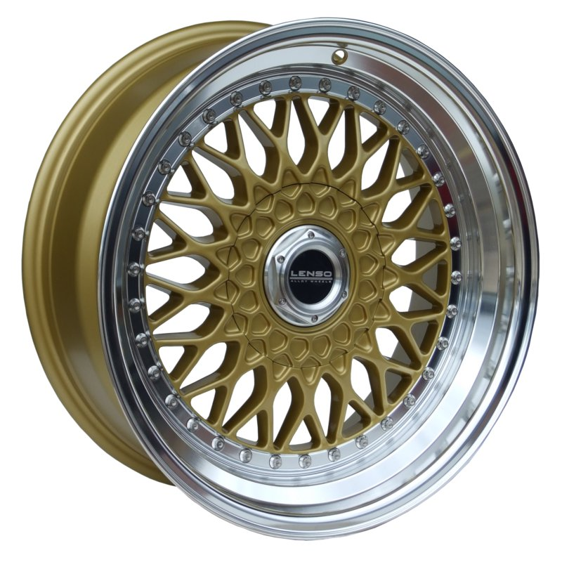 LENSO BSX 8,5x17 5x100 ET35 GOLD / MIRROR LIP