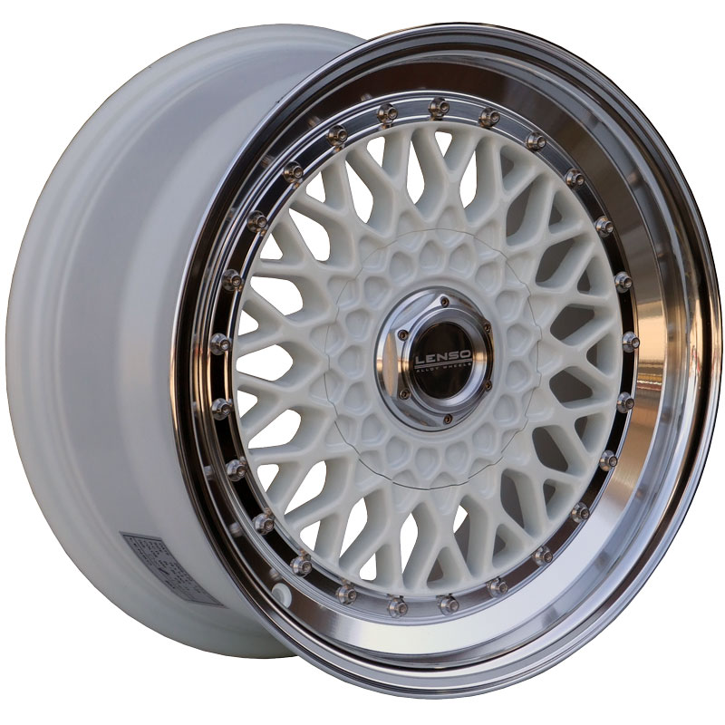 LENSO BSX 7,5x17 5x100 ET35 WHITE / MIRROR LIP