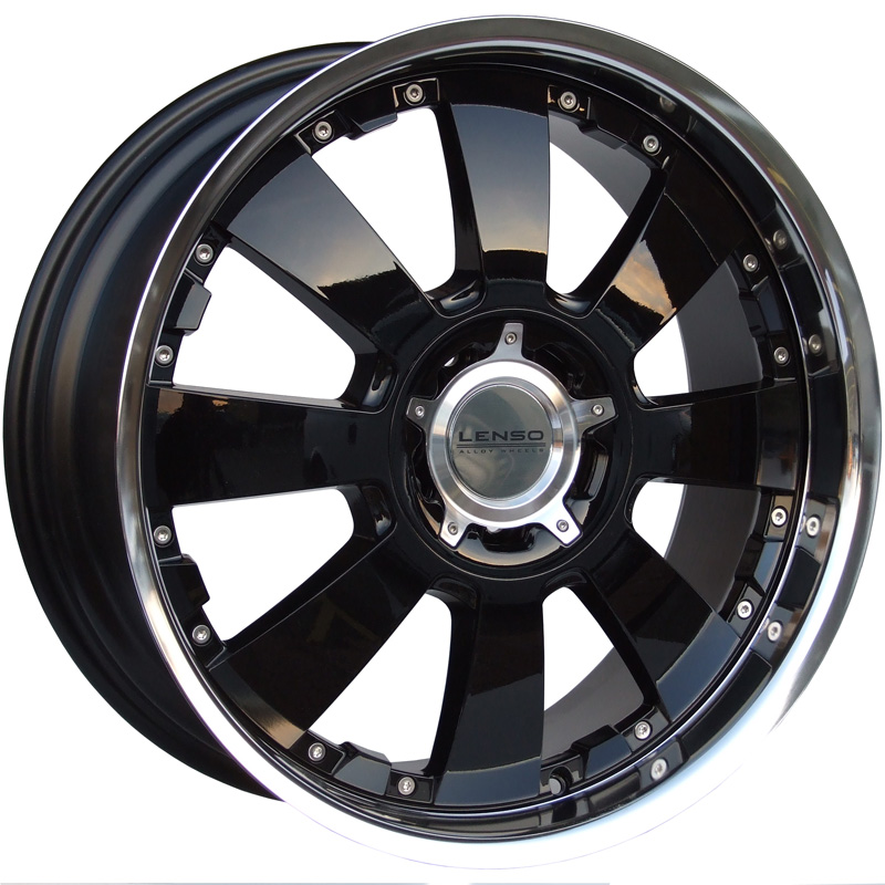 LENSO CONCERTO 8,5x20 6x139,7 ET22 GLOSS BLACK/ POLISHED LIP