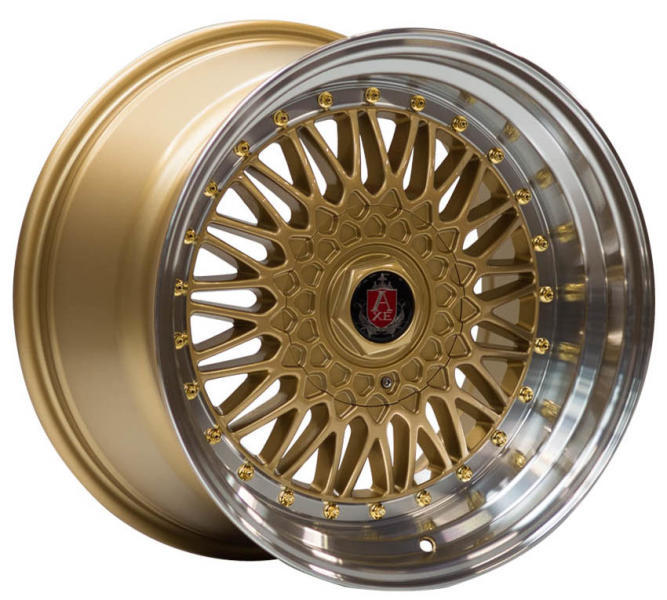 AXE RS 8,5x17 5x100 ET25 GOLD/MIRROR LIP