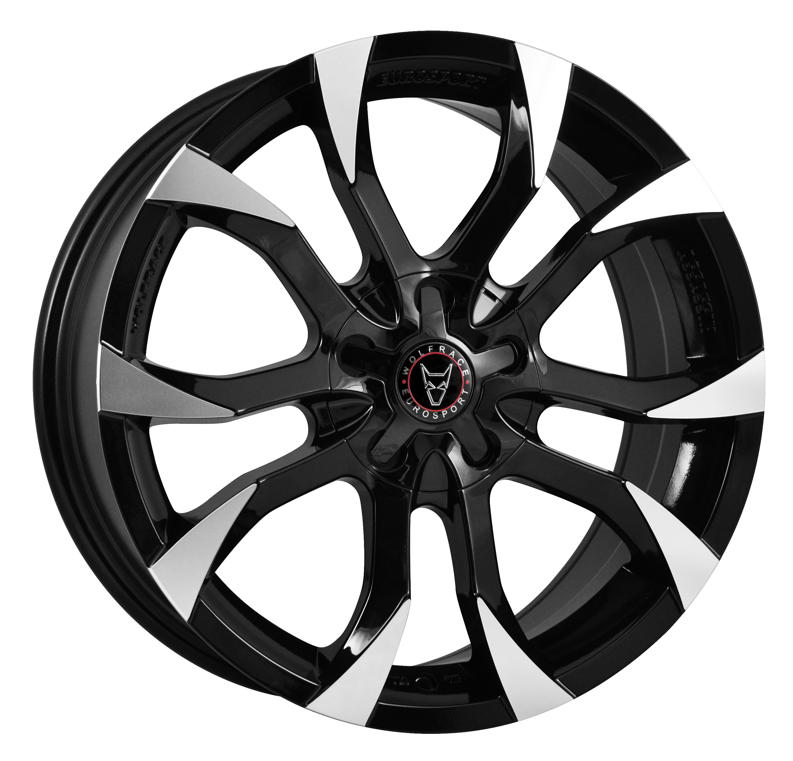 WOLFRACE EUROSPORT ASSASSIN 7x17 5x100 ET40 BLACK POLISHED