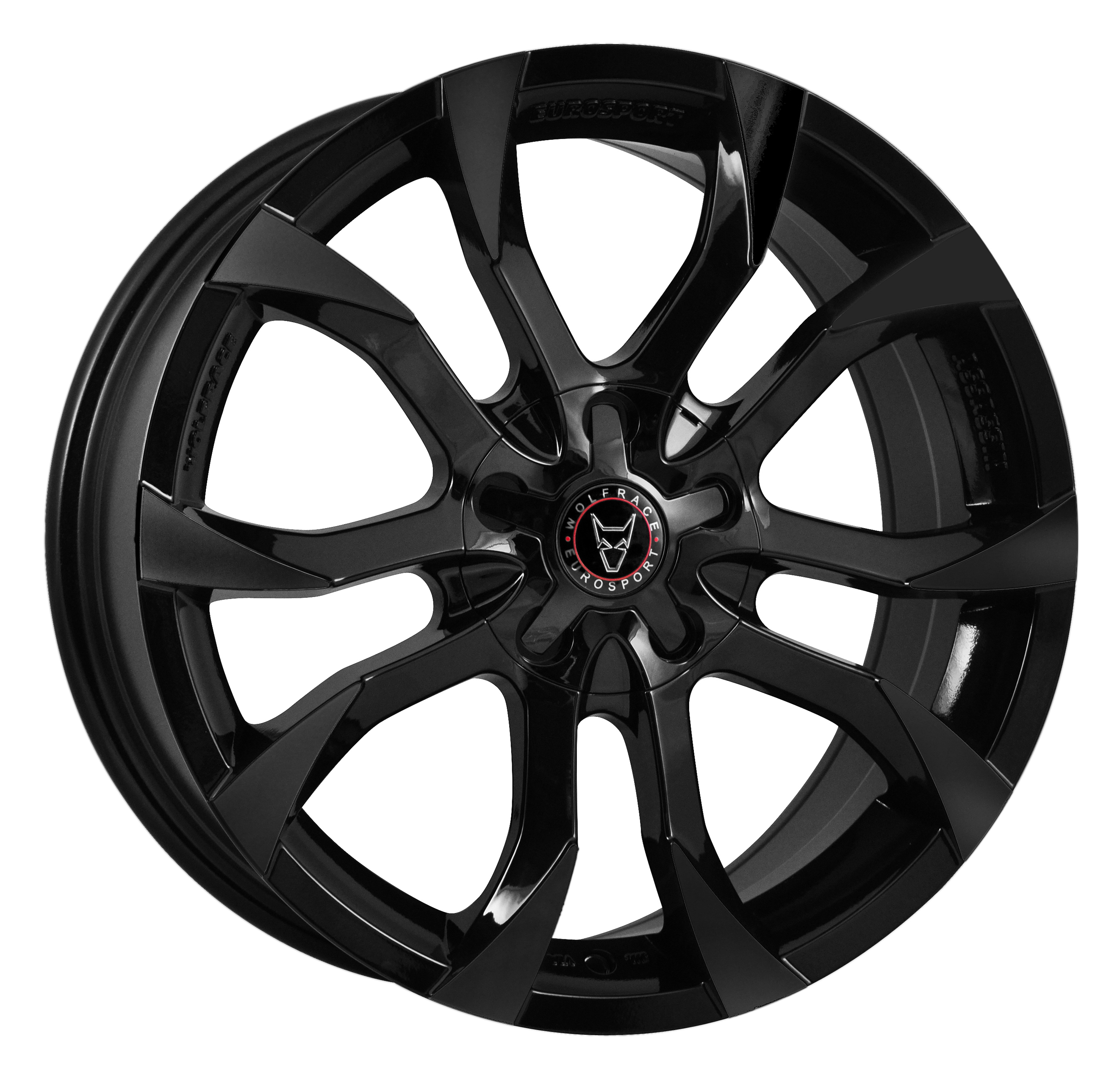 WOLFRACE EUROSPORT ASSASSIN 7x17 5x100/112 ET35 GLOSS BLACK