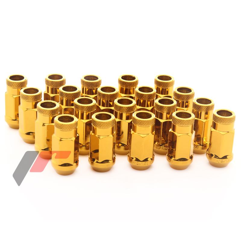 JR Kované ocelové matice kol M12x1,5 45mm GOLD