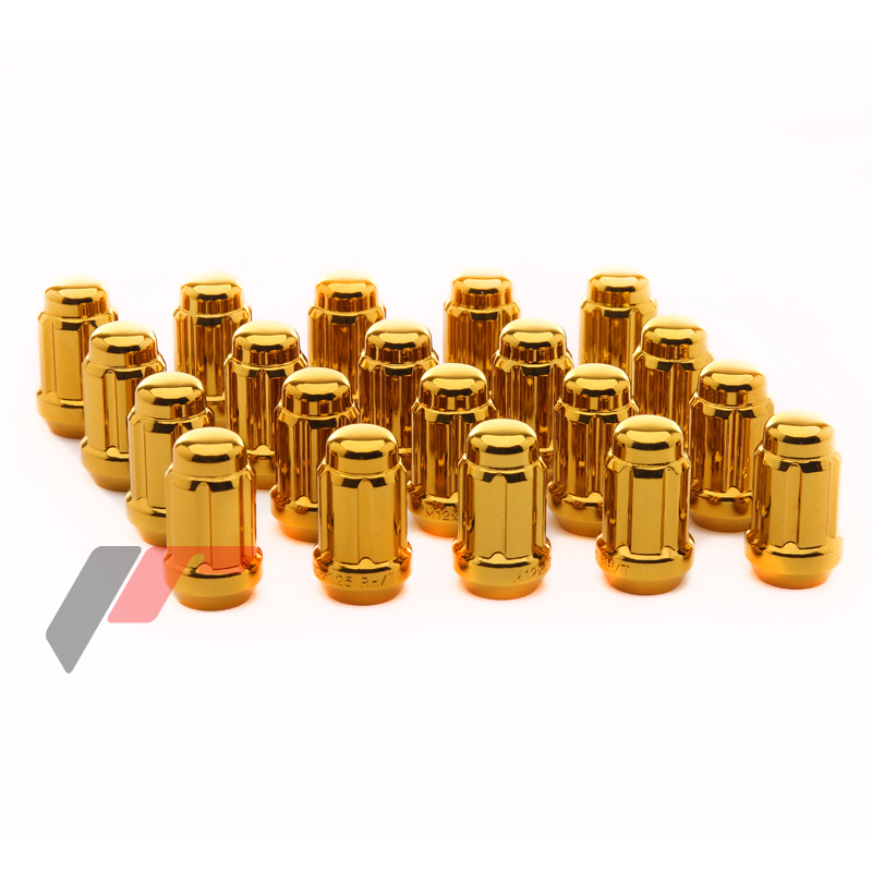 JR Kované ocelové matice kol M12x1,5 krátké GOLD