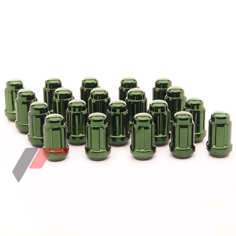 JR Kované ocelové matice kol M12x1,5 krátké GREEN