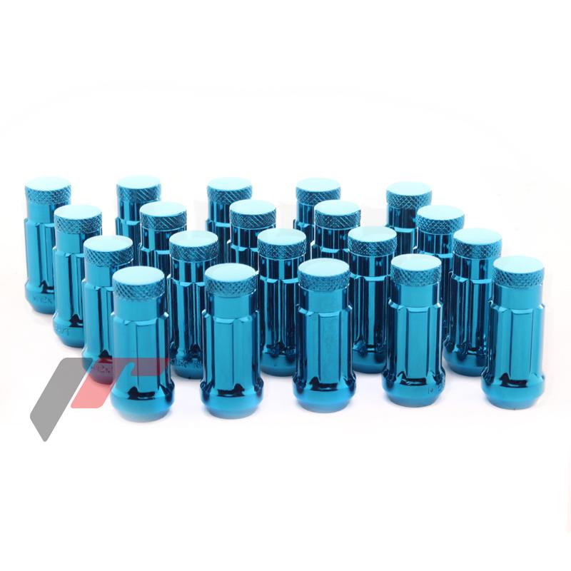 JR Kované ocelové matice kol M12x1,5 45mm uzavřené BLUE