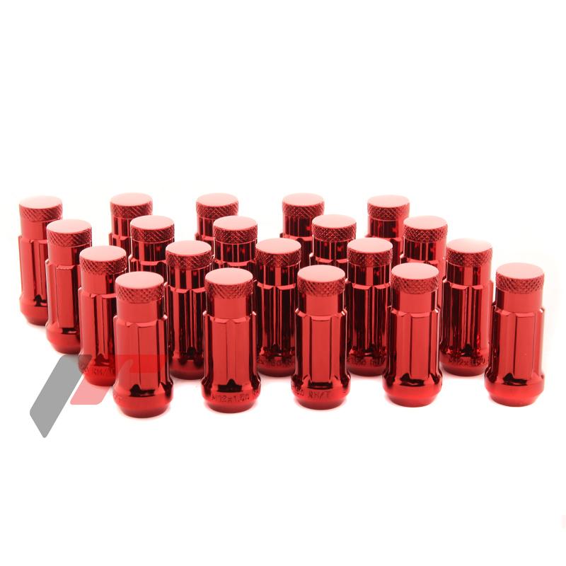 JR Kované ocelové matice kol M12x1,5 45mm uzavřené RED