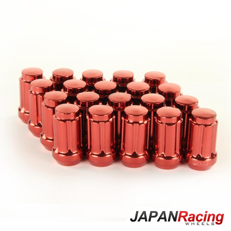 JR Kované ocelové matice kol M12x1,5 krátké RED