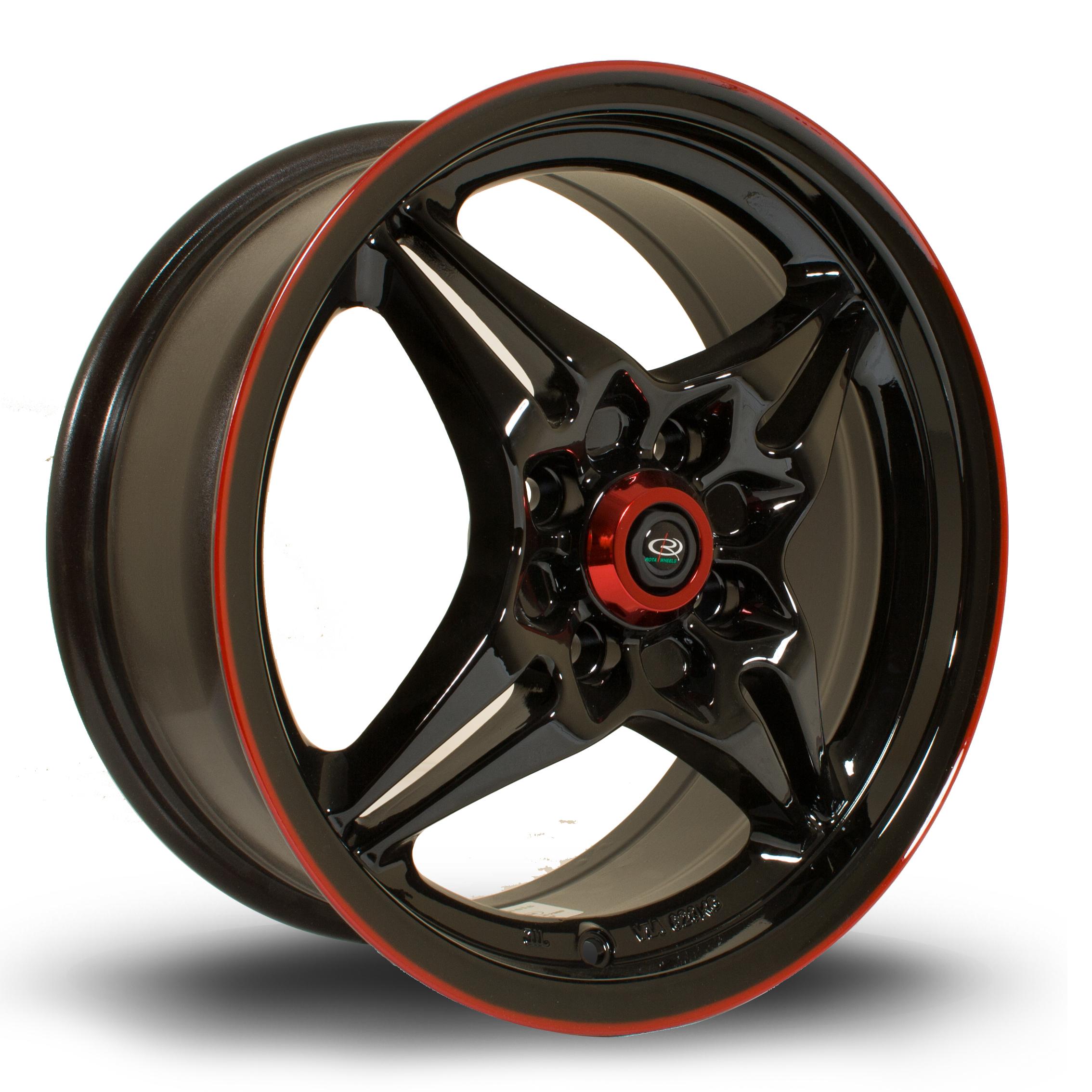 ROTA AUTOX 6,5x15 4x100 ET40 BLACK RED LIP