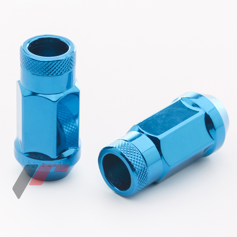 JR Kované ocelové matice JN1 M12x1,5 45mm otevřené BLUE 20ks + nástavec