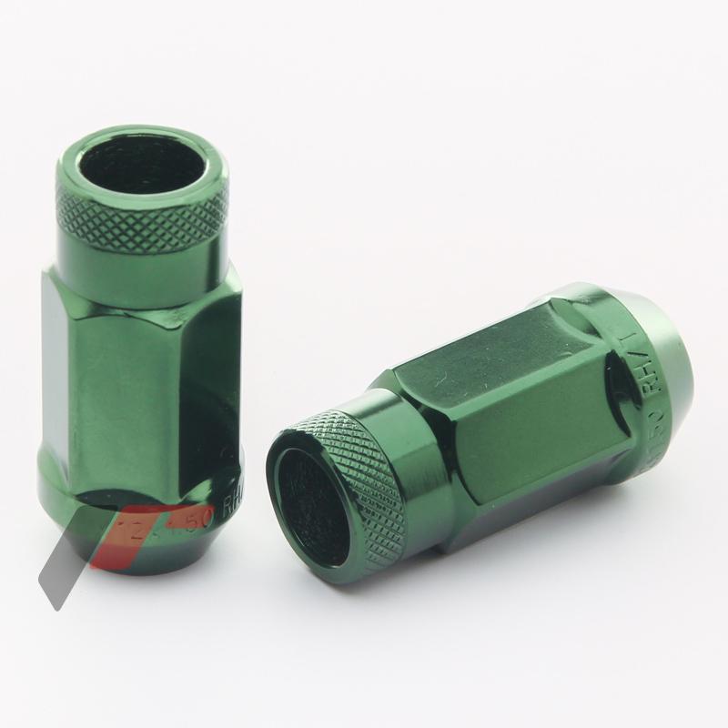 JR Kované ocelové matice JN1 M12x1,5 45mm otevřené GREEN 20ks + nástavec