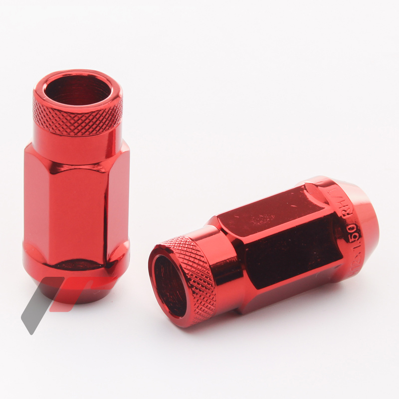 JR Kované ocelové matice JN1 M12x1,5 45mm otevřené RED 20ks + nástavec