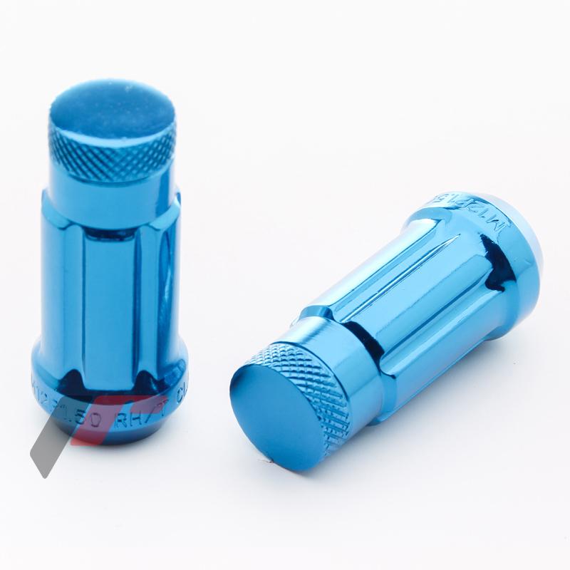 JR Kované ocelové matice JN3 M12x1,5 45mm uzavřené BLUE 20ks + nástavec