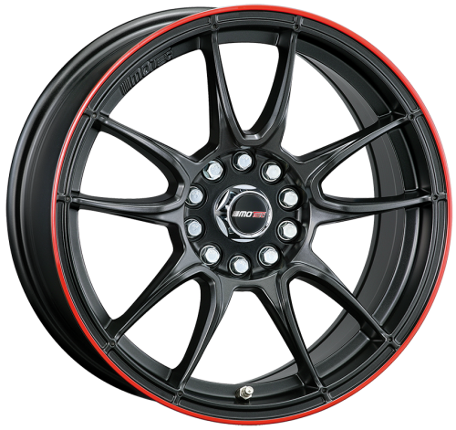 MOTEC NITRO 7,5x17 5x100/112 ET35 MATT BLACK RED RING