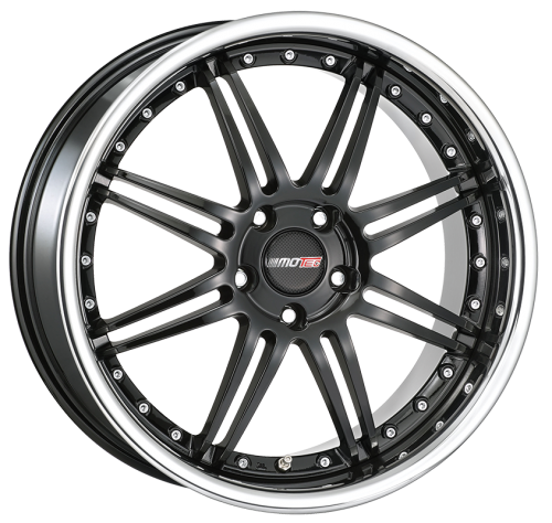MOTEC ANTARES EVO 7,5x18 4x100 ET38 BLACK STEEL LIP