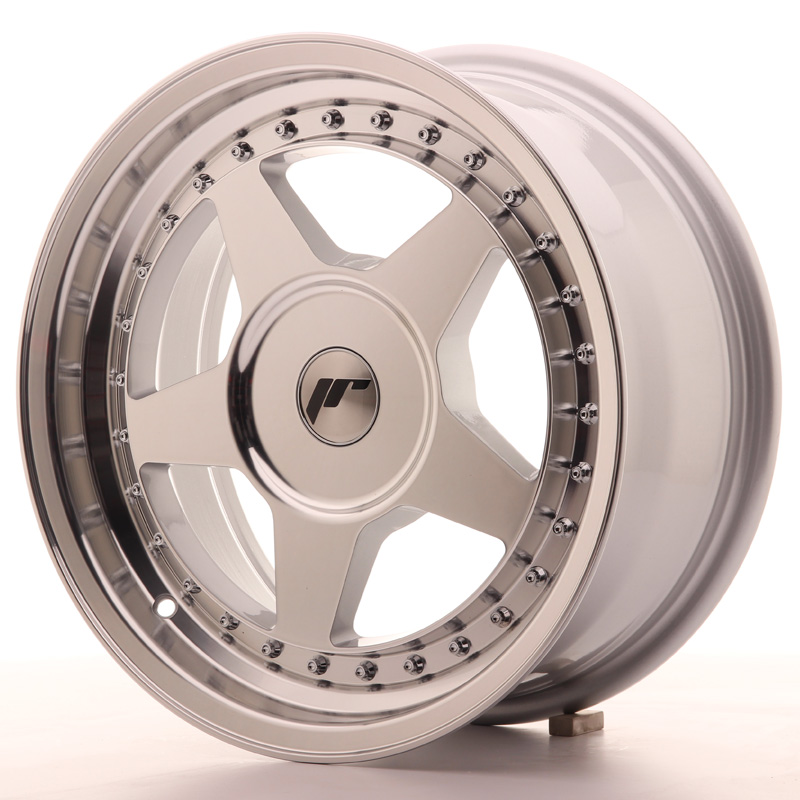 JR6 7x16 4x100 ET20-35 SILVER MACHINED