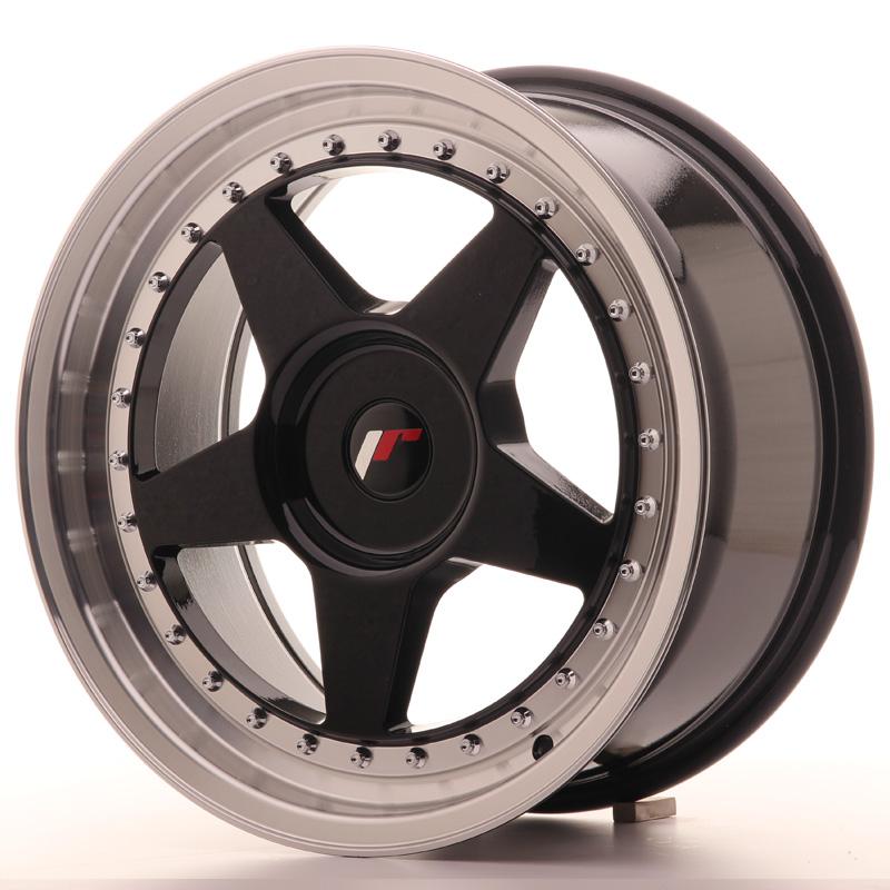 JR6 8x17 5x100 ET20-35 GLOSS BLACK