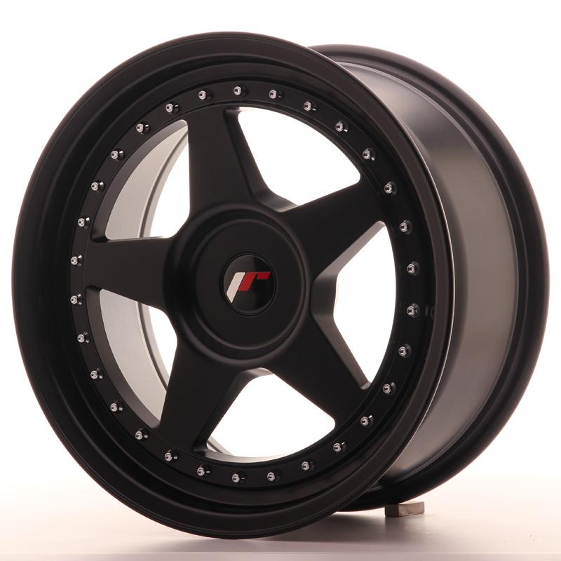 JR6 8x17 5x100 ET20-35 MATT BLACK