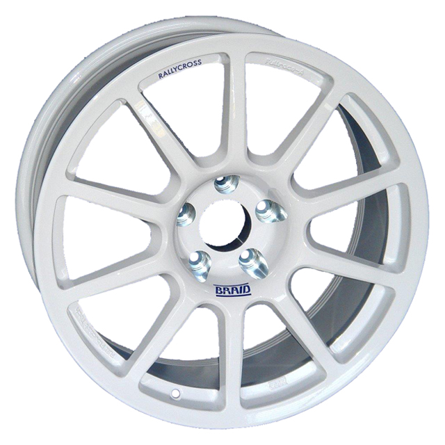 BRAID FULLRACE RALLYCROSS 8x18 5x112 ET-10/70 WHITE (ET-10 až)