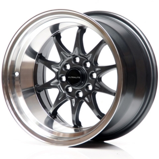 ULTRALITE UL48 9x15 4x100/108 ET0 DARK GREY