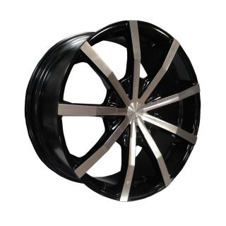 LENSO BARON 9,5x22 6x139,7 ET45 BLACK / POLISHED FACE