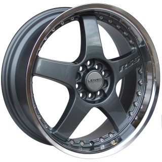 LENSO RS5 7x17 4x108 ET35 GUNMETAL / MIRROR LIP