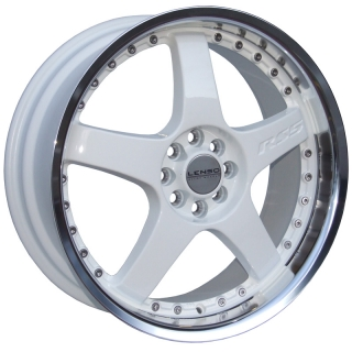 LENSO RS5 7x17 5x114,3 ET42 WHITE / MIRROR LIP
