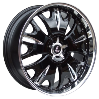LENSO GRANDE 9 8,5x20 6x139,7 ET35 GLOSS BLACK/ MIRROR LIP