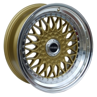 LENSO BSX 8x15 5x120 ET25 GOLD / MIRROR LIP