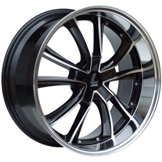 LENSO ES7 9,5x20 5x120 ET20 GLOSS BLACK/ POLISHED FACE&LIP
