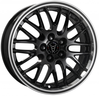 WOLFRACE GB NORANO 8x17 5x120 ET45 BLACK POLISHED