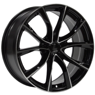 LENSO ESE 8x18 5x120 ET42 GLOSS BLACK/POLISHED FACE&LIP