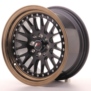 JR10 8x15 4x100/108 ET20 MATT BLACK BRONZE LIP