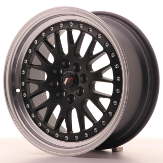 JR10 7x16 4x100/108 ET30 MATT BLACK MACHINED LIP