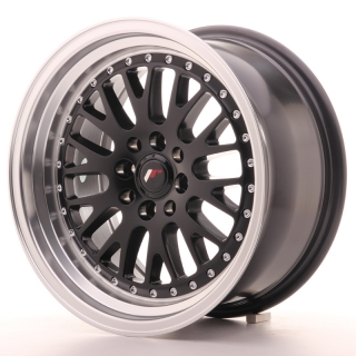 JR10 8x16 4x100/108 ET20 MATT BLACK MACHINED LIP