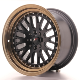 JR10 9x16 4x100/108 ET20 MATT BLACK BRONZE LIP