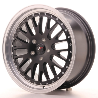 JR10 8,5x18 5x100 ET40 MATT BLACK MACHINED LIP