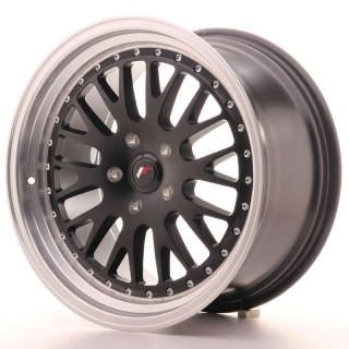 JR10 9,5x18 5x100 ET40 MATT BLACK MACHINED LIP