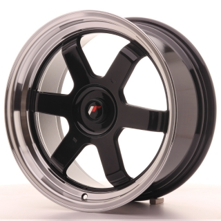 JR12 8x17 5x100 ET35 GLOSS BLACK
