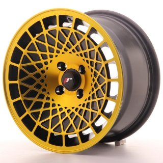 JR14 8x15 4x100 ET20 BLACK GOLD FINISH