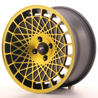 JR14 8x16 4x100 ET15 BLACK GOLD FINISH