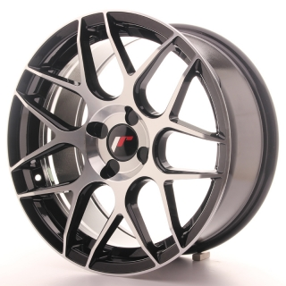 JR18 8x17 4x100 ET25-35 BLACK MACHINED