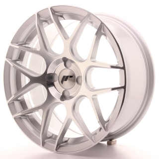 JR18 8x17 4x100 ET25-35 SILVER MACHINED