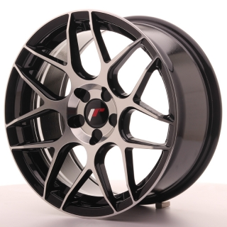 JR18 8x17 5x100 ET35 BLACK MACHINED