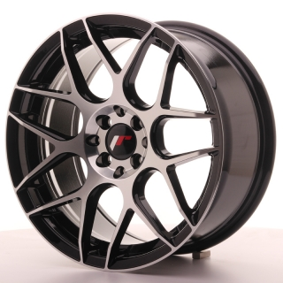 JR18 8x17 4x100/108 ET25 BLACK MACHINED